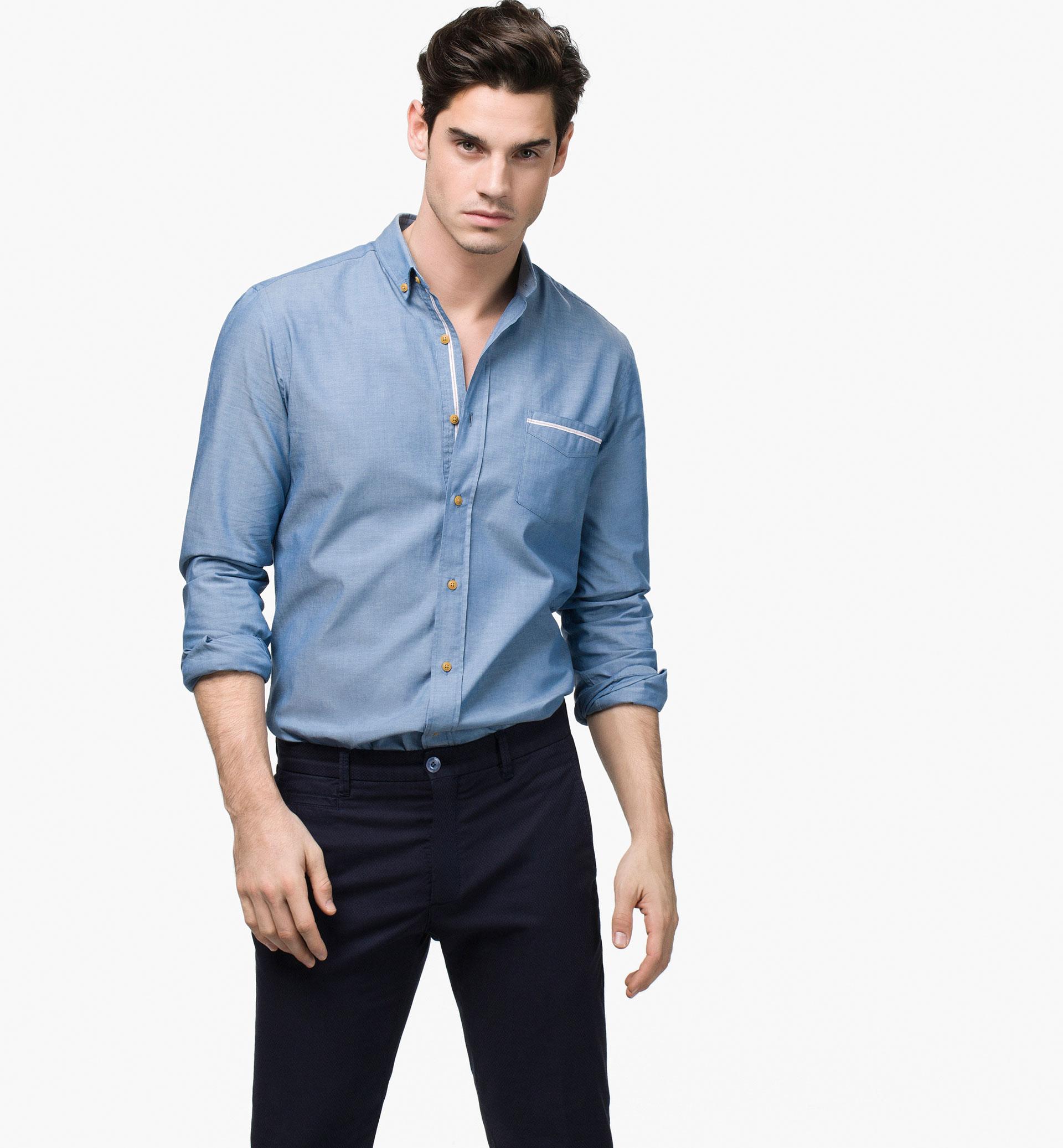 Chemise en sergé avec pantalon en sergé