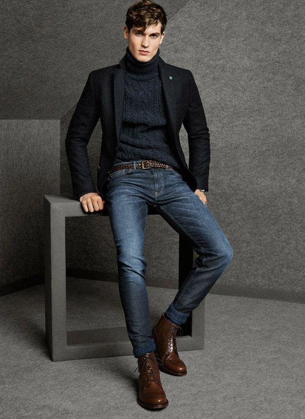 Look élégant avec un jean et une veste de costume noire
